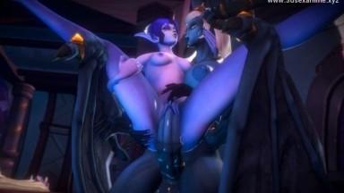 Xera the monster Girl futanari BY JIMAHN rule34 ELf 2021 3D sex anime HD
