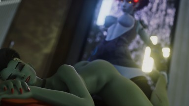 SOMBRA Sweet sexy dickgirls from Overwatch fucks BRIGTTY very hard