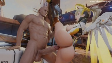 Mercy Fuck in Starting Positions Public by SaveAss Rule34 2021 Overwatch 3D porn