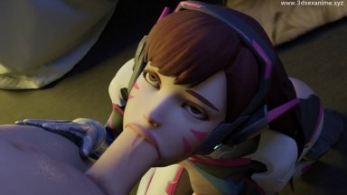 Dva blowjob by Saveass rule34 Overwatch 2021 3D porn Animation From Game