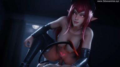 Red Eyes Demon girl fuck by LazyProcrast rule34 2021 Devil 3D sex animation HD