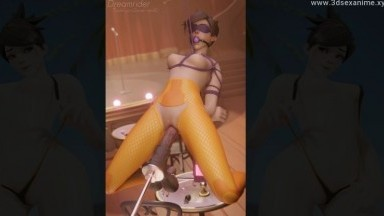 Tracer dildo machine fuck by Dreamrider rule34 2021 overwatch nsfw 3d from game porn hd