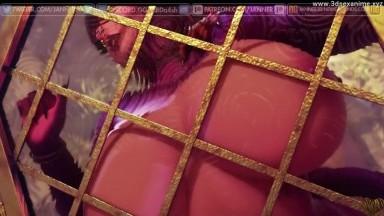 Futa cum On the Glass by janner rule34 monster girls Futanari 3D sex Animation HD