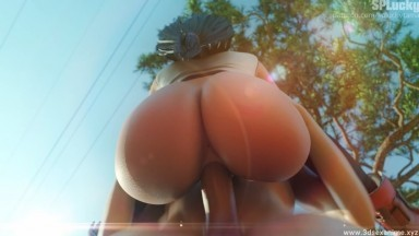 Tifa standing fuck outdoor by Splucky rule34 Final Fantasy 3D Porn animation HD