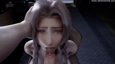 Aerith Throatfuck by JuicyNeko rule34 Final Fantasy Nsfw 3D From game HD
