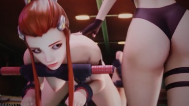Brigitte Dominated by Ashe By Baronstrap rule34 Overwatch 3D Porn Domination HD