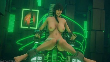 Tifa in the orgasme Machine by BaronStrap rule34 Final Fantasy nsfw 3D sex HD