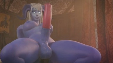 Futa horscock Draenei by Bandoned Rule34 MonsterGirl 3D porn HD