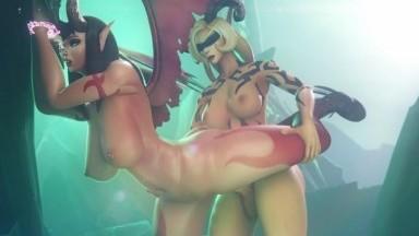 Futanari fuck Legion Interrogation By spluckytama rule34 World of Warcraft Futadom 3D porn