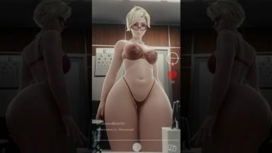 Mercy too heavy and big booty to twerk by generalbutch Rule34 Overwatch NSFW 3D porn HD
