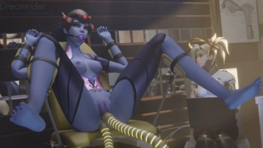 Widowmaker forced fuck with Mercy by Dreamrider rule34 Overwatch 3D porn 2021 HD