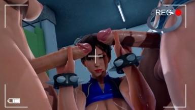 Chunli Futa Taker Poison and Cammy POV by vldstudio rule34 futadom 3D street fighter porn