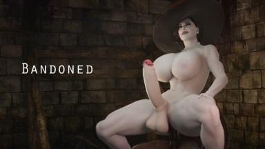 Futa lady Dimitrescu ride by Bandoned rule34 resident Evil Futanari 3D PORN HD