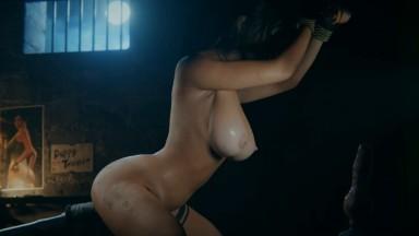 Lara Forced orgasm by Wildeer Studio rule34 bondage rope Tombe raider Porn 2021