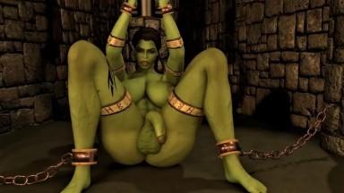 Futanari Ork Shemale Gets Milked and Forced orgasme by Wraith931 Futadom 2021