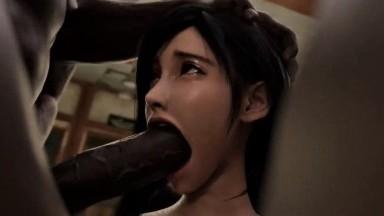 Tifa love Big black dicks by Dynamite Crocodile rule34 final fantasy porn 3D