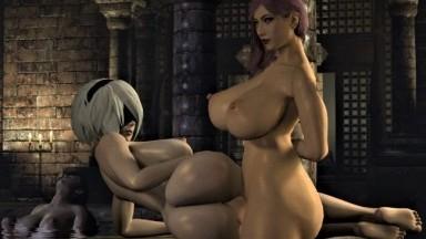 Futa Seong hui fuck 2b while Tifa relax by stalkek rule34 nier automata final fantasy 3D porn futadom