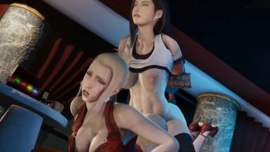 Scarlet fucked by Futa Tifa by BlackJr rule34 Final fantasy 2021 3D porn
