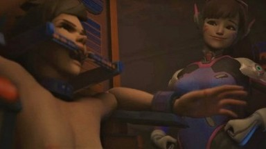 Tracer Tickled in DVa Arcade by Baronstrap Overwatch 3D porn