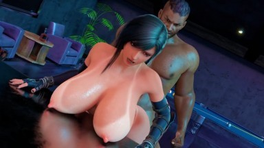 Tifa Tight pussy fuck and anal by Amusteven rule34 Final Fantasy SHORT MOVIE Porn 3D