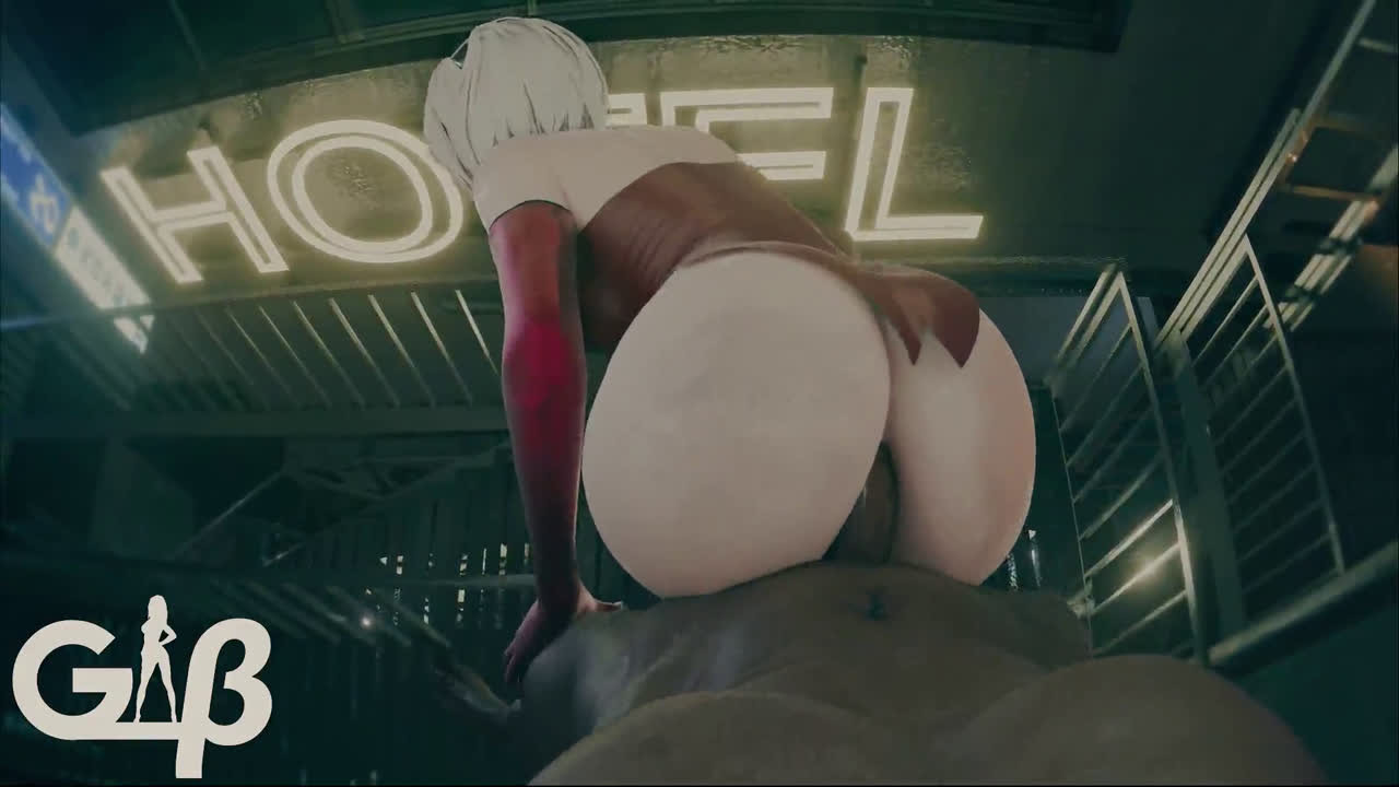2B anal fucking with bbc in her cute wight tide asshole