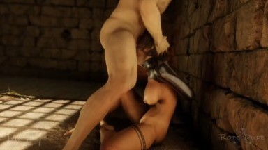 Lara Croft forced second preview wip by TheRopeDude rule34 bondage Tomb Raider