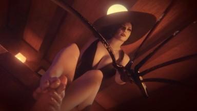 Lady Dimitrescu Footjob by AllFs3D rule34 Resident Evil porn