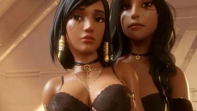 Ana x Pharah by Nyx rule34 overwatch porn 3d 2021