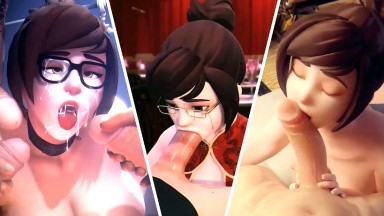 Mei hot compilation by arhoangel spoks vg erotica puugy and more rule34 overwatch