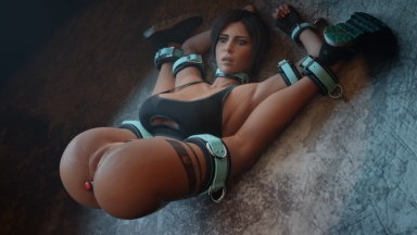 lara captured and forced by gifdoozer rule34 bondage tomb raider porn