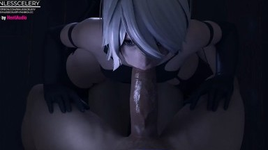 A2 blowjob and ride by SinlessCelery rule34 nier automata threesome