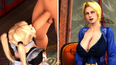 Maid to Facefuck with Marie and helena by Lord Aardvark rule34 dead or alive 3D short movie Doa