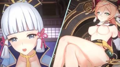 genshin girls hot sex Shirakami rule34 genshin impact