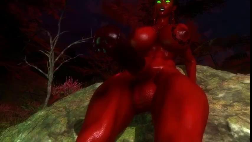futanari Draenei POV 1080p 3D porn sex animation