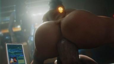 Panam ride big dick cyberpunk porn BY JJJD Free HD rule34 3D sex animation